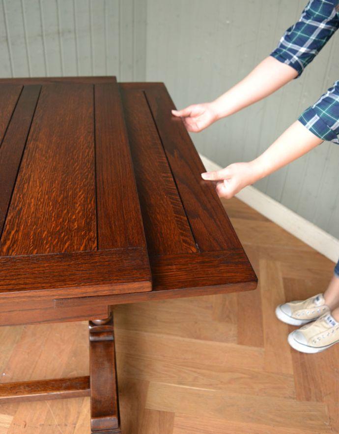 m-542-f アンティークドローリーフテーブルの開き方