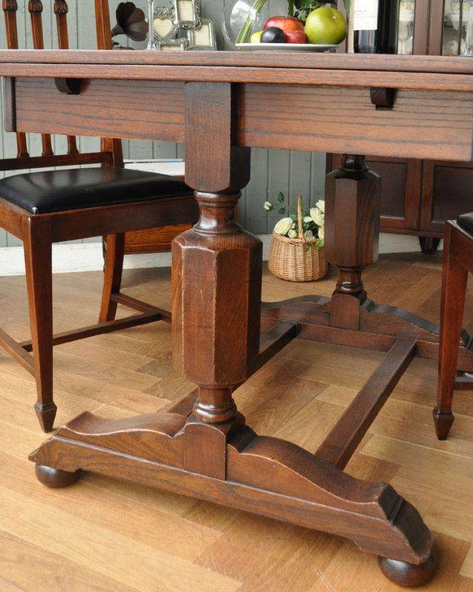 m-542-f アンティークドローリーフテーブルの脚