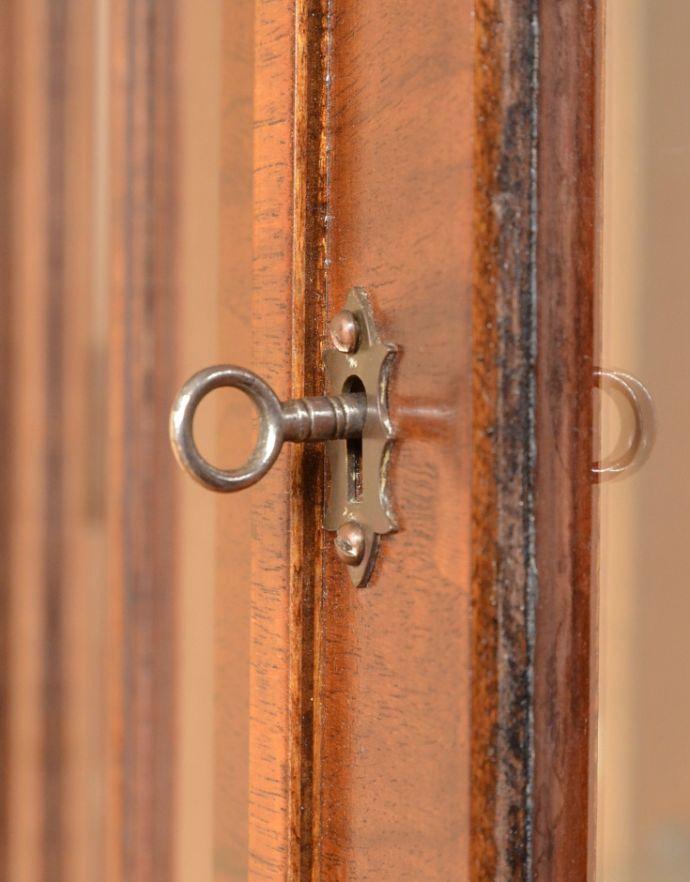 m-555-f アンティークガラスキャビネットの鍵&取っ手