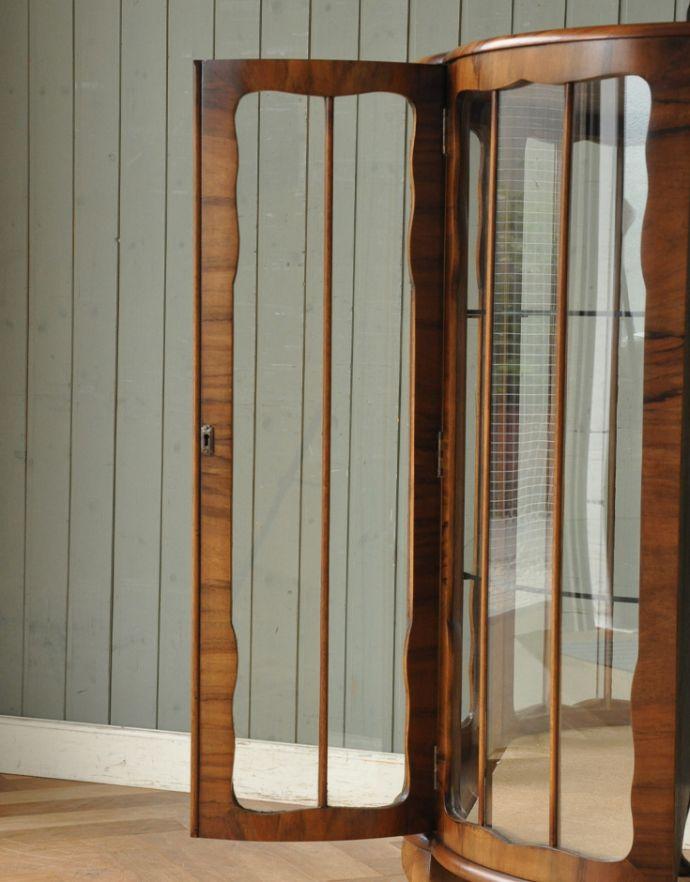 m-504-f-1 アンティークガラスキャビネットのガラス戸