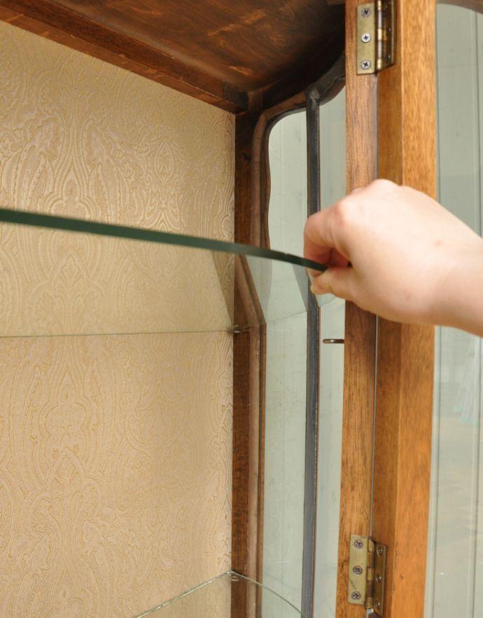 m-504-f-1 アンティークガラスキャビネットの棚板
