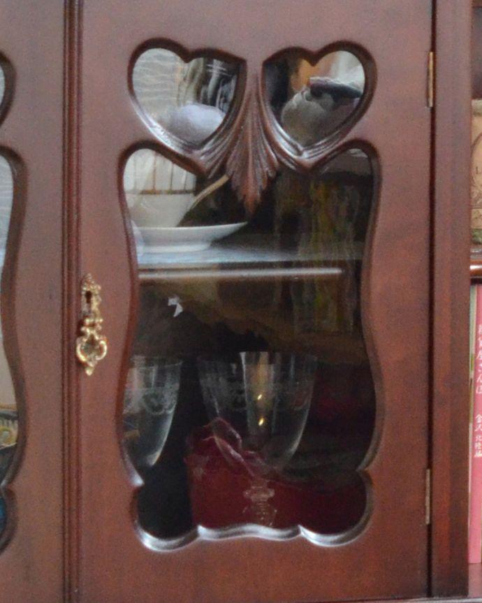 m-585-f アンティークサイドボードのガラス扉