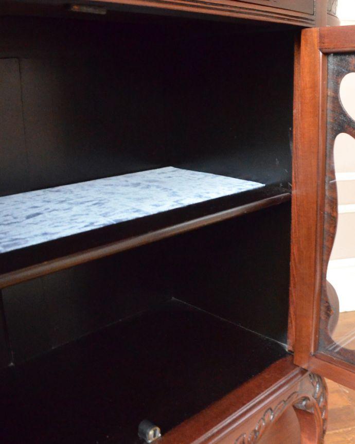 m-585-f アンティークサイドボードの棚板