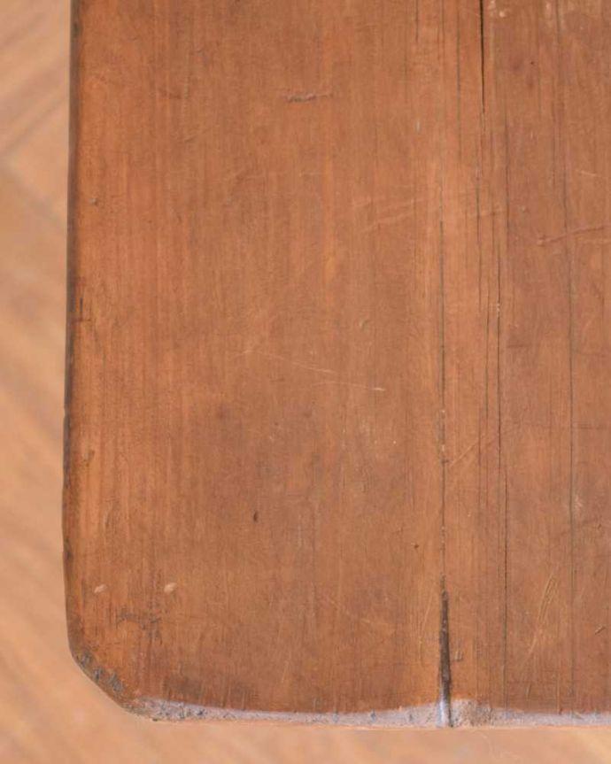 m-629-f  アンティークオケージョナルテーブルの天板ズーム