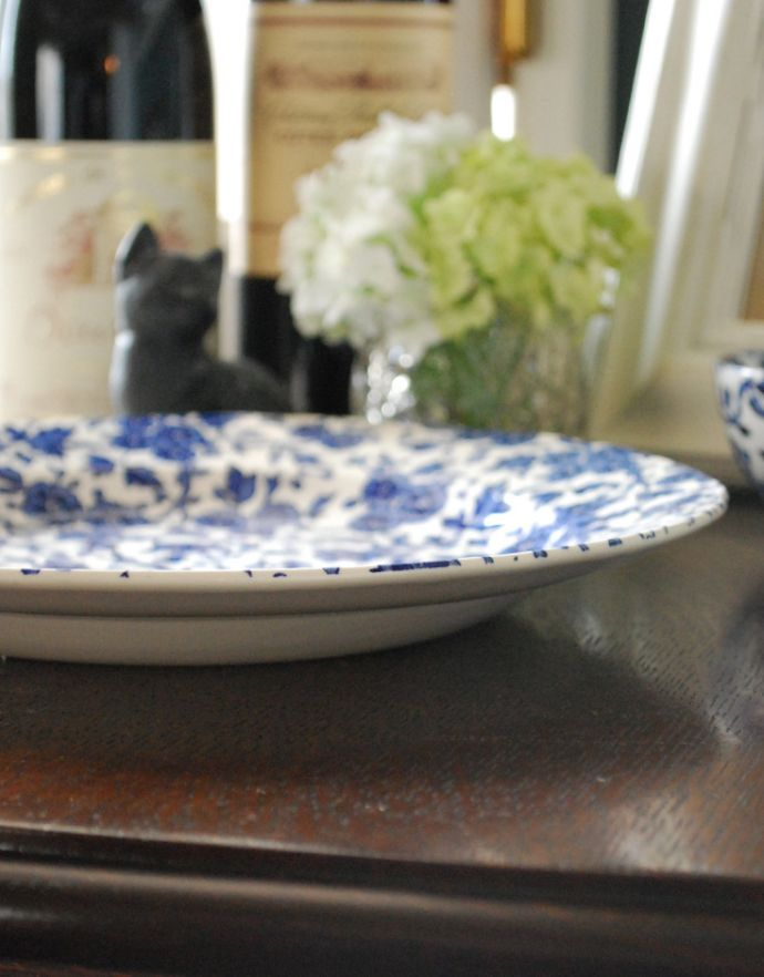 バーレイ食器 インテリア雑貨 英国輸入雑貨 バーレイ社のプレート 26.5cm(ブルーアーデン)。こちらは大皿タイプ。(n1-207)