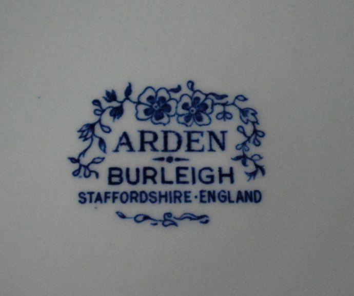 バーレイ食器 インテリア雑貨 英国輸入雑貨 バーレイ社のプレート 26.5cm(ブルーアーデン)。バックスタンプが付いています。(n1-207)