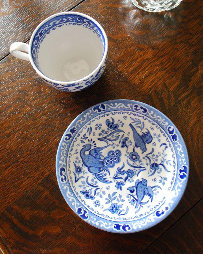 バーレイ食器 インテリア雑貨 英国輸入雑貨 バーレイ社のカップ&ソーサー(リーガルピーコック)。カップとソーサーをセットでお届けします。(n1-265)
