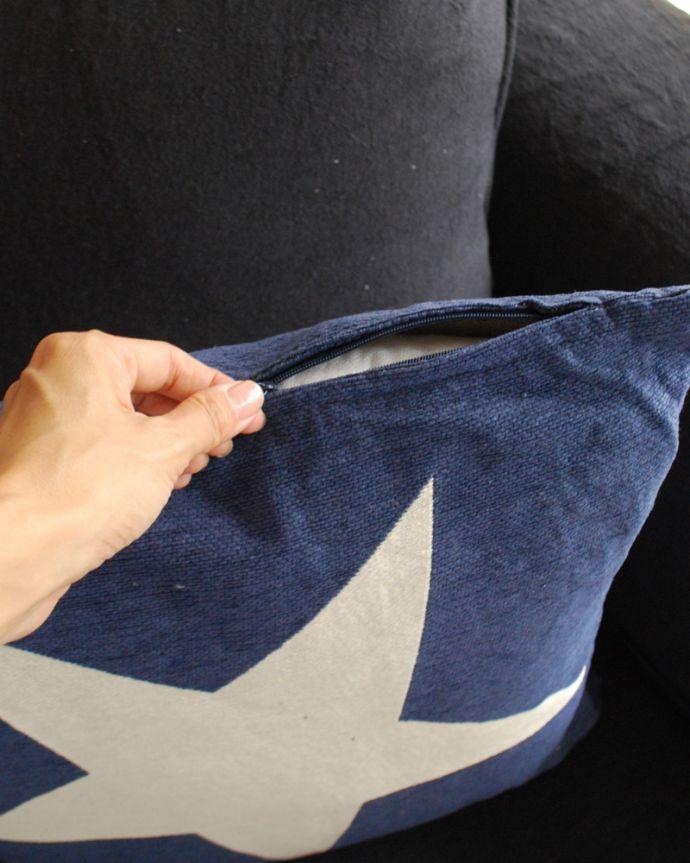 n10-016 ONESTARクッション(ブルー)の手入り