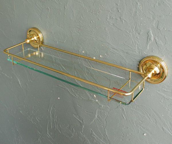 n12-111 ガラスシェルフ(ゴールド)