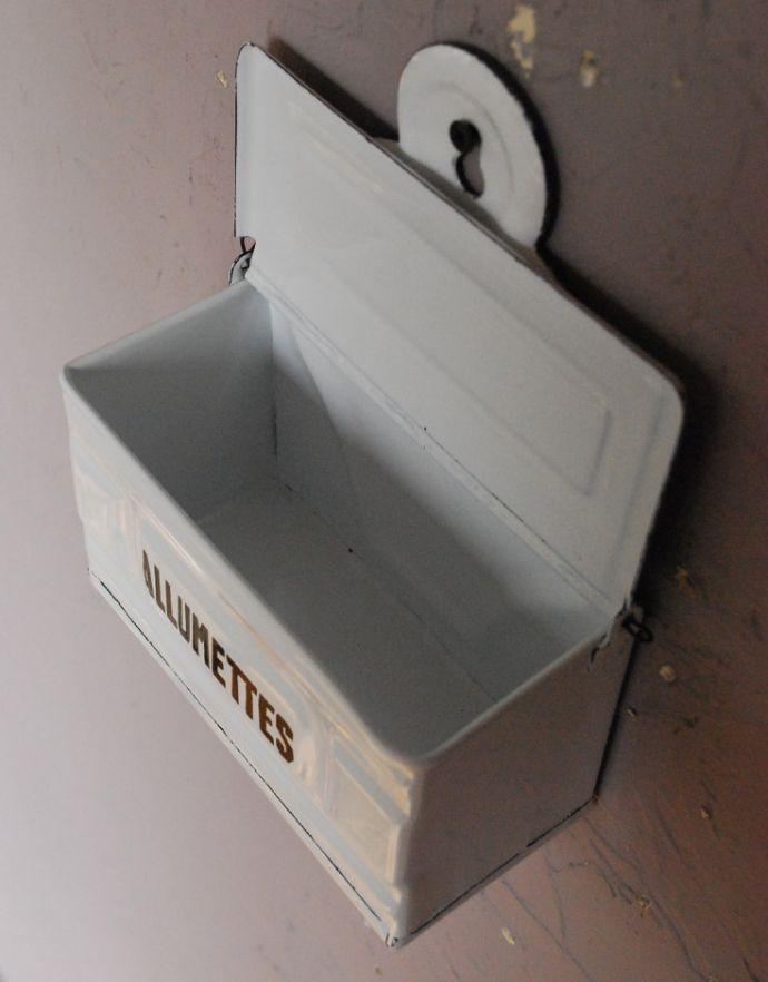 n12-189 ホーロー製アルメットボックス「ALLUMETTES」の蓋