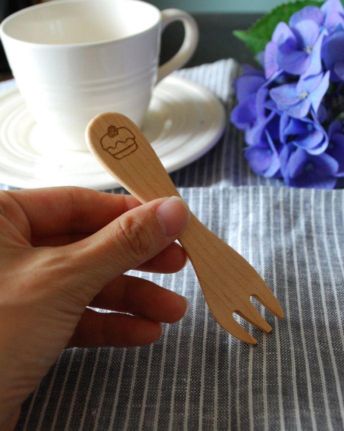 n18-112 木製カトラリー フォークの手入り