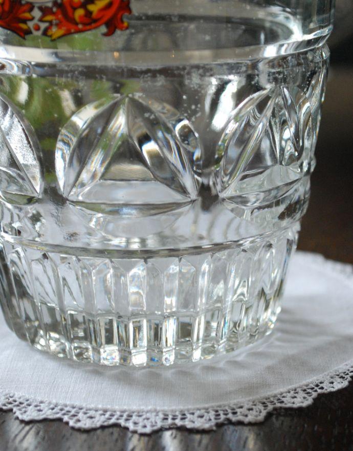 pg-3193 アンティークプレスドグラス(ジョッキグラス)の底