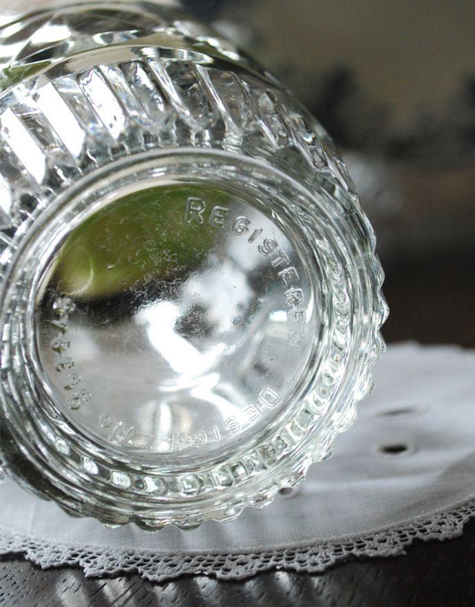 pg-3193 アンティークプレスドグラス(ジョッキグラス)の裏