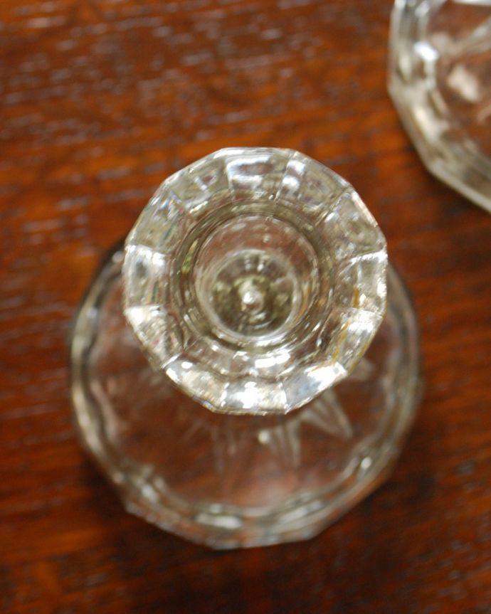 pg-3779 ガラスのキャンドルスタンド 上から