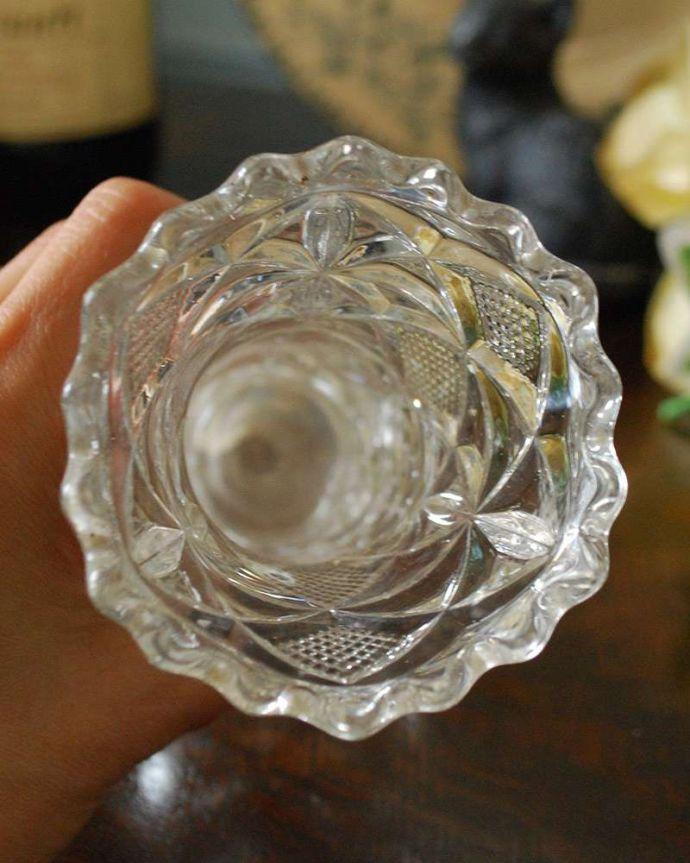 pg-4298 プレスドグラス(花瓶)の上から