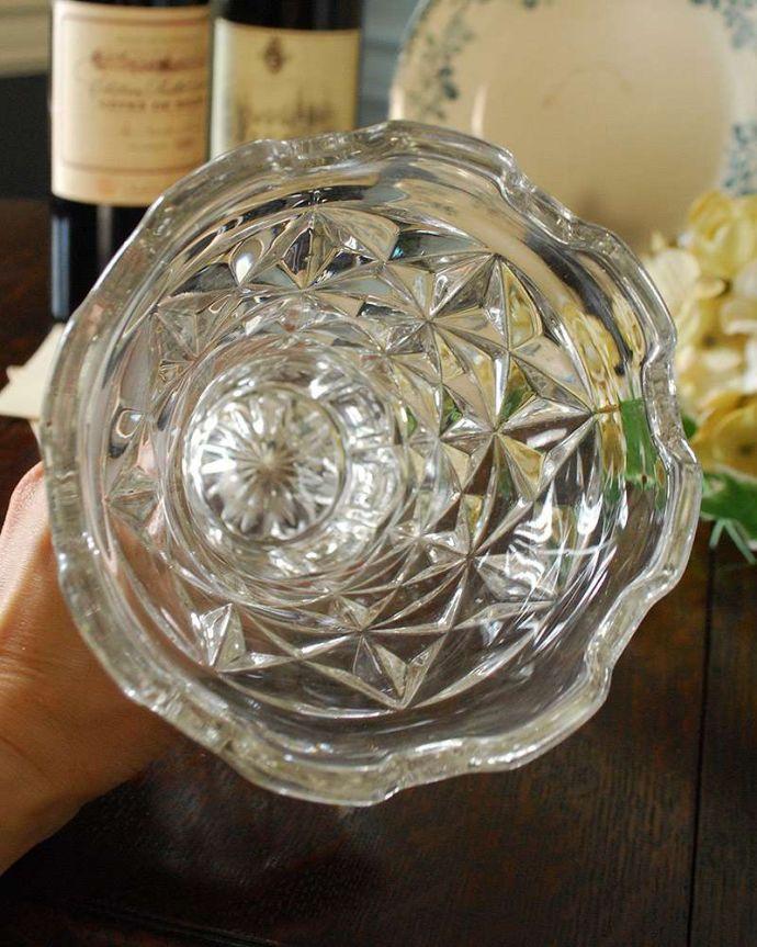 pg-4315 プレスドグラス(花瓶)の上から