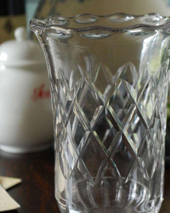 pg-4325 プレスドグラス(花瓶)アップ
