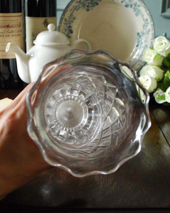 pg-4325 プレスドグラス(花瓶)の上から