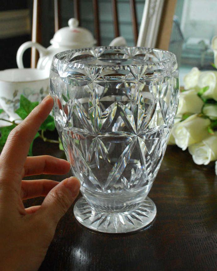 pg-4351 プレスドグラス(花瓶)の手入り