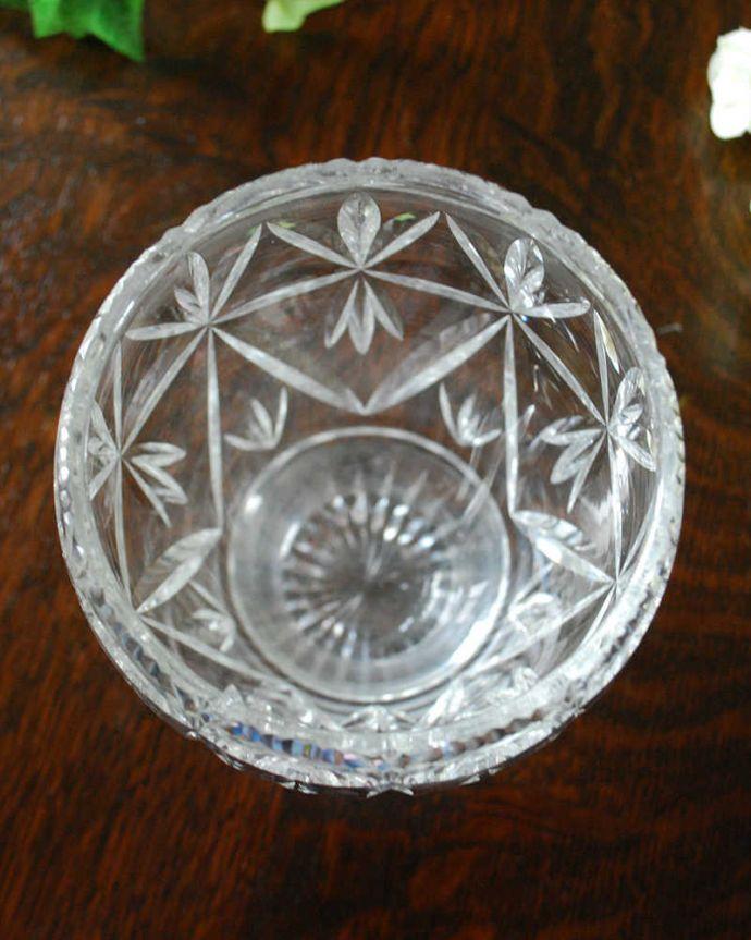 pg-4351 プレスドグラス(花瓶)の上から