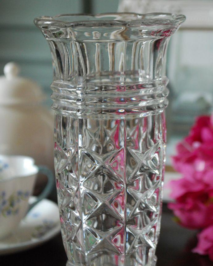 pg-4403 プレスドグラス(花瓶)アップ