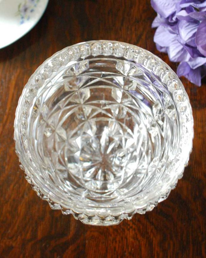 pg-4581 プレスドグラス(花瓶)の上から