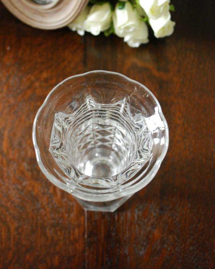 pg-4864 プレスドグラス(花瓶)の上から