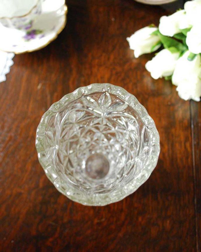pg-4868 プレスドグラス(花瓶)の上から