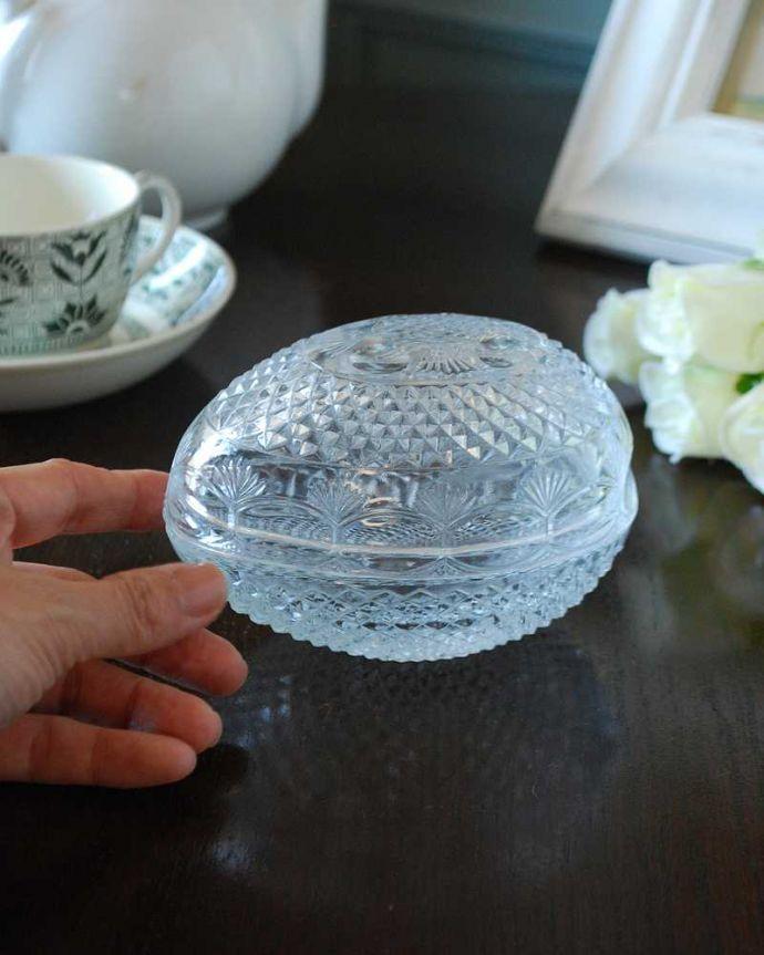 pg-5594 プレスドグラス(ガラスケース)の手入り