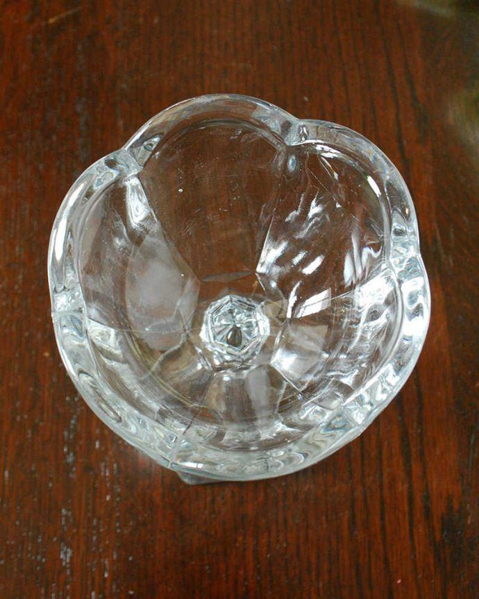 pg-5604 プレスドグラス(デザートグラス)の上から
