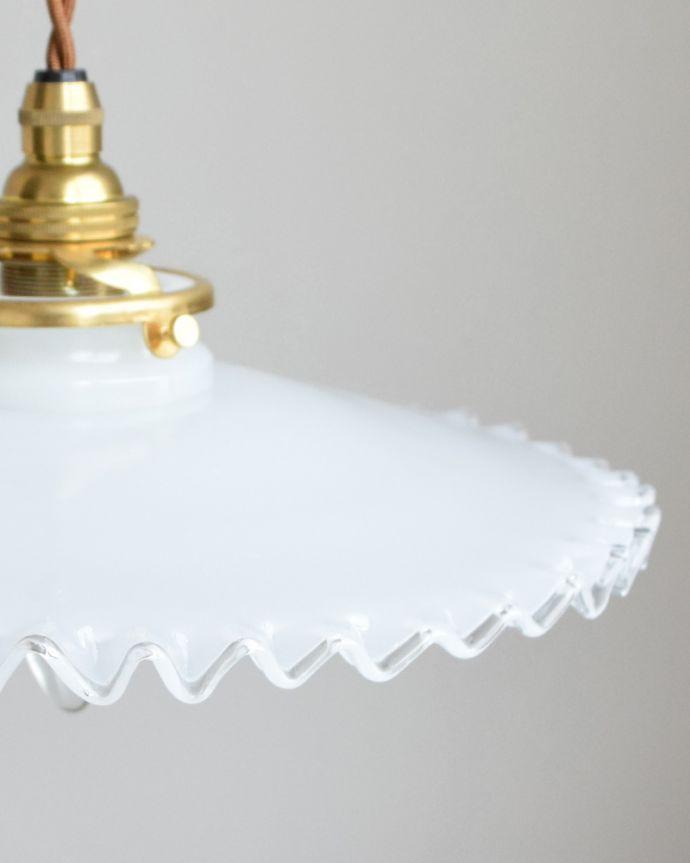 pl-004a ミルクガラスのペンダントライトの消灯時アップ