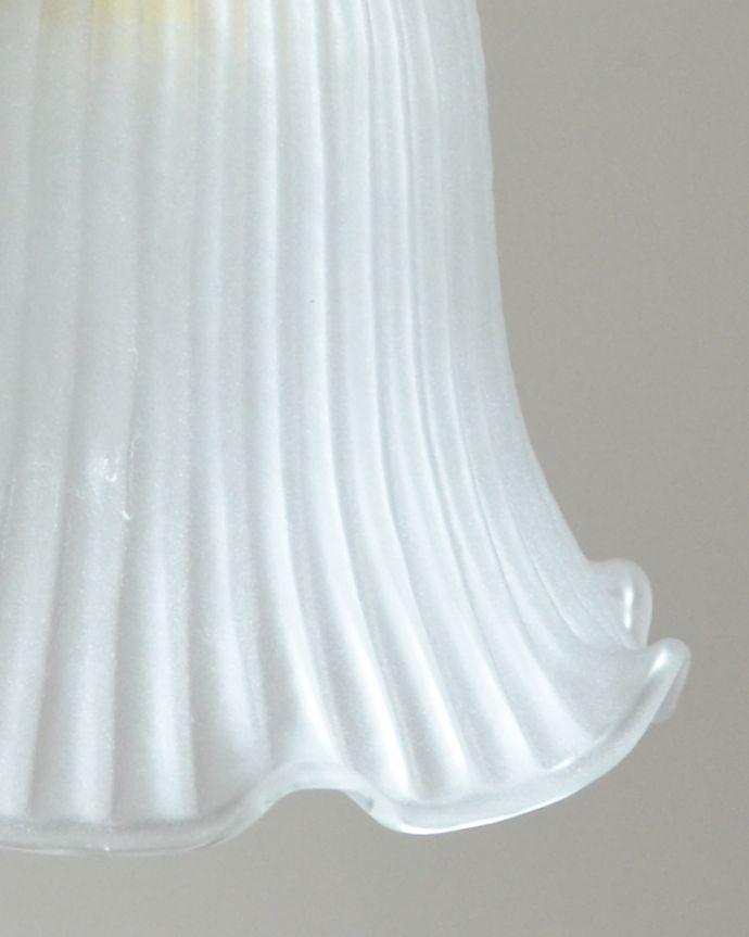 pl-118 ミルクガラスのペンダントライトの消灯時アップ