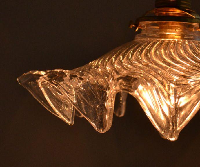 ペンダントライト 照明・ライティング ダイナミックなカッティングが美しい、ペンダントライト(コード・シャンデリア球・ギャラリーA付き)。灯りをつけると、キラキラと美しく輝きます。(pl-132)