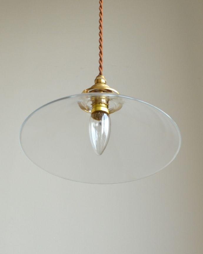 ペンダントライト 照明・ライティング 電球の温かい明かりを楽しめるクリアガラスがキレイなペンダントライト(コード・シャンデリア球・ギャラリーA付き)。シンプルなクリアガラスのペンダントライトは、お部屋にスッキリとした印象を与えてくれます。(pl-149)