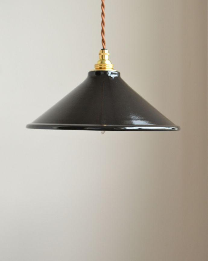 pl-154  琺瑯ペンダントライト(ブラック)のサイズ