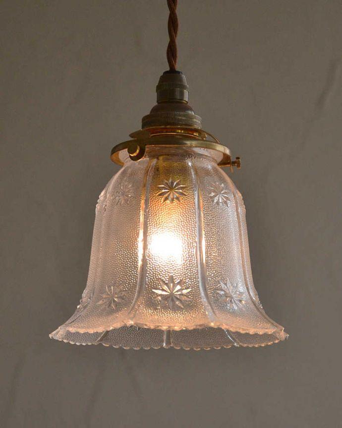 pl-174 アンティークガラスシェードの点灯時