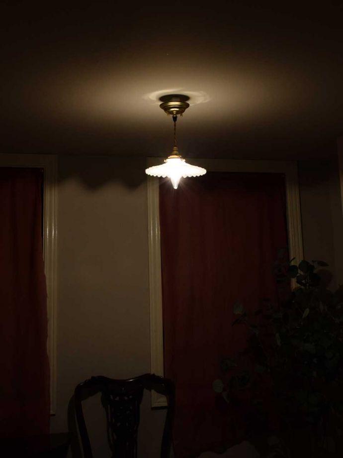 ペンダントライトの陰影