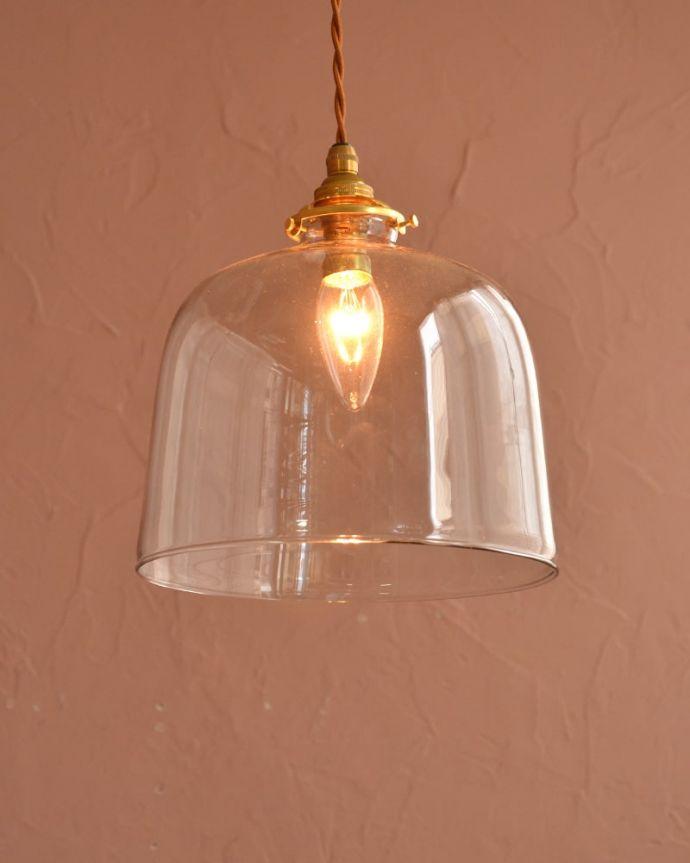 照明・ライティング ガラスシェード・ドーム・グレー お部屋のアクセサリーを楽しんでみませんか?ガラスシェードのペンダントライトは気軽で使いやすく人気の照明器具。(pl-293)