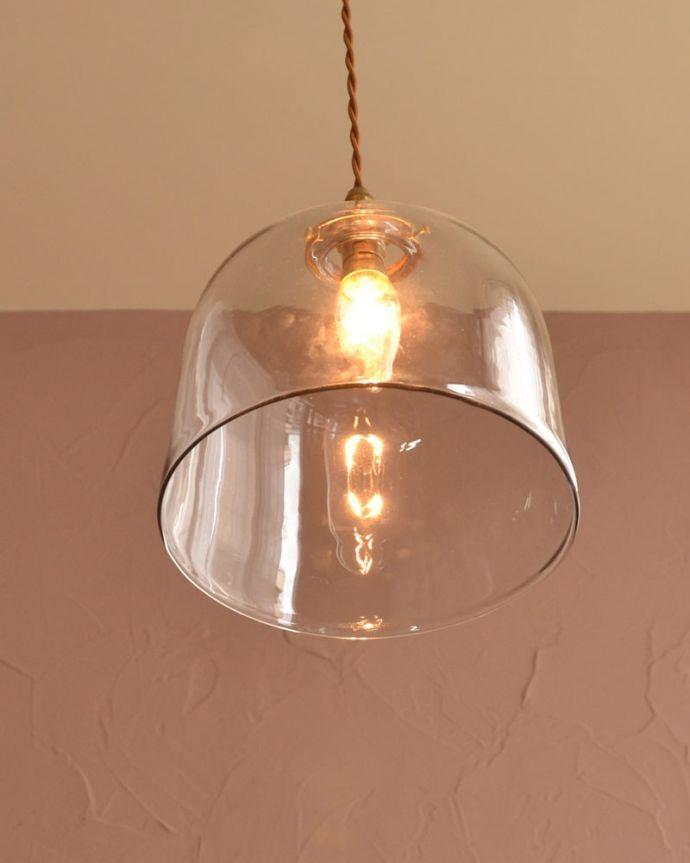 照明・ライティング ガラスシェード・ドーム・グレー 灯りを点けると・・・毎日の疲れをホッと癒してくれる灯り。(pl-293)