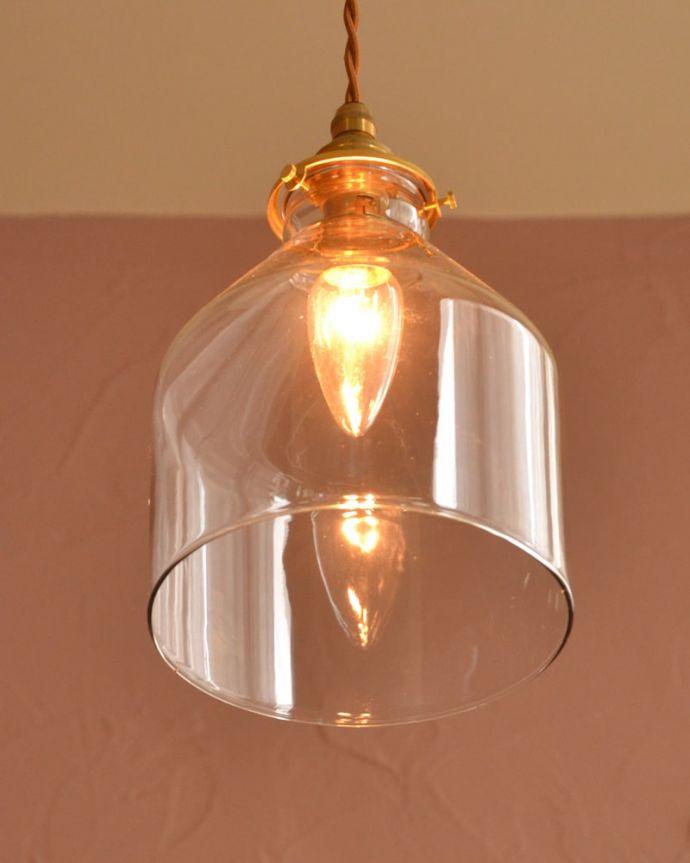 照明・ライティング ガラスシェード・ハウス・グレー 灯りを点けると・・・毎日の疲れをホッと癒してくれる灯り。(pl-294)