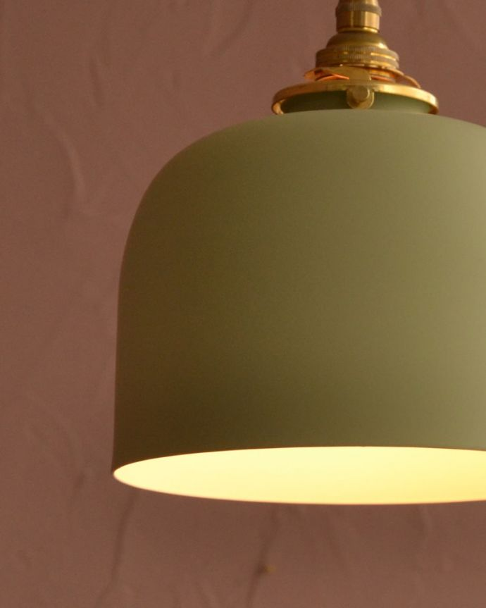 照明・ライティング アイアンシェード・フェズ・モスグリーン 1つ1つ表情が違いますシェードは手作りのため一つ一つ誤差があります。(pl-301)
