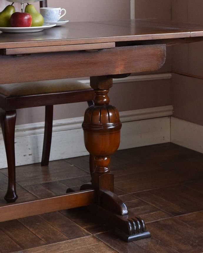 q-1011-f アンティークドローリーフテーブルの脚