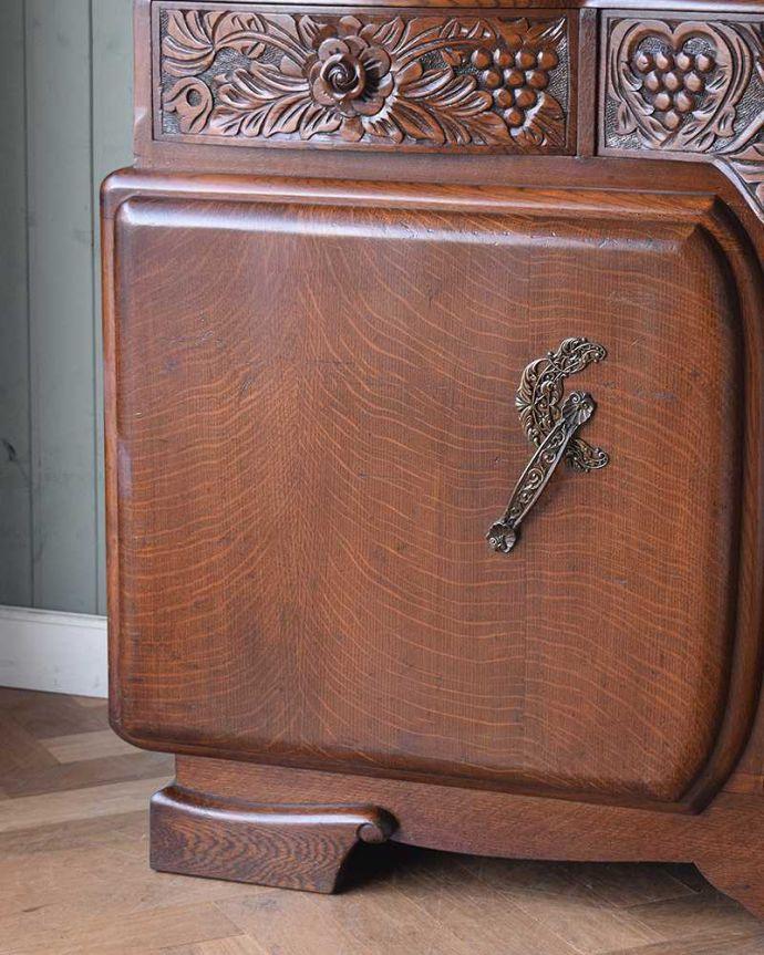 q-1016-f アンティークサイドボードの扉