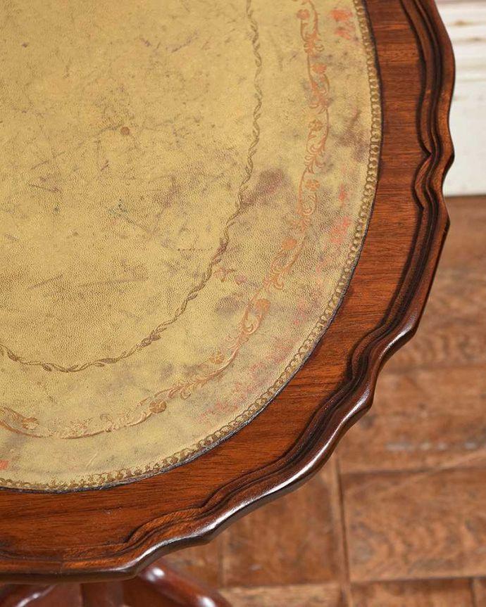 q-1027-f アンティークワインテーブルの縁