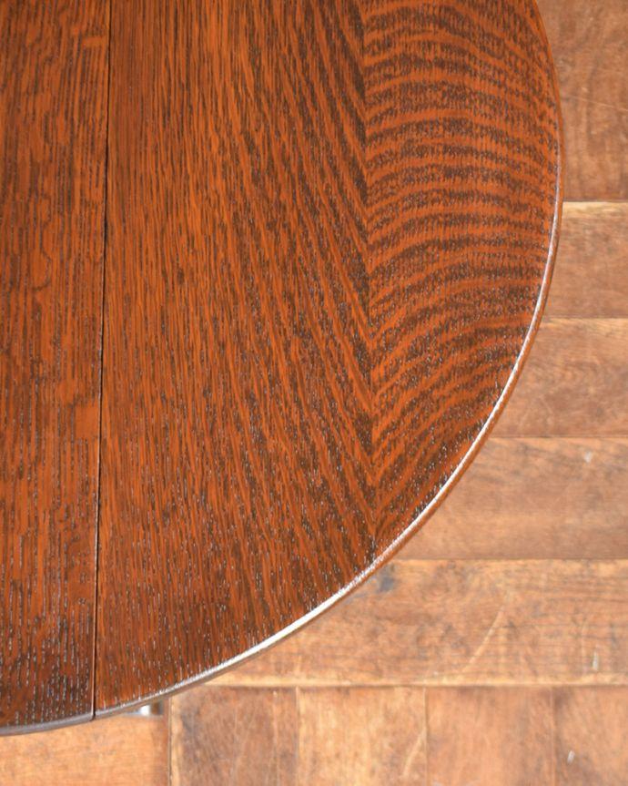 q-1034-f  アンティークゲートレッグテーブルの天板ズーム