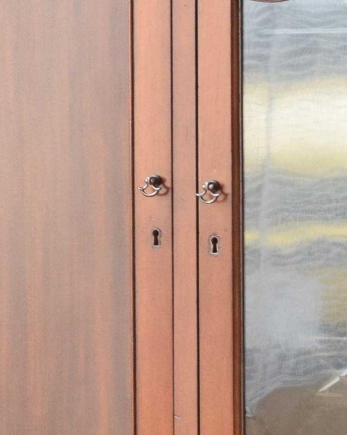 q-1042-fアンティークガラスキャビネットの鍵