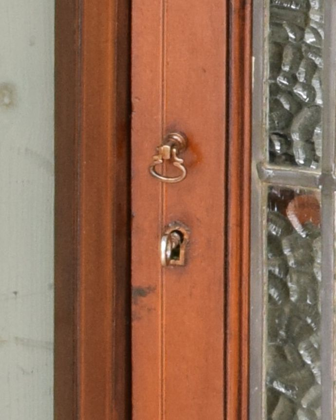 q-1049-f アンティークキャビネットの鍵、取っ手