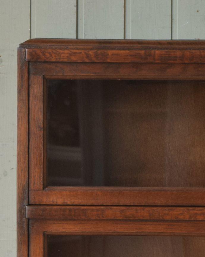 q-1090-f アンティークスタッキングブックケースのガラス