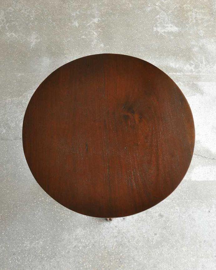 q-1106-f  アンティークティーテーブル(丸型)の天板