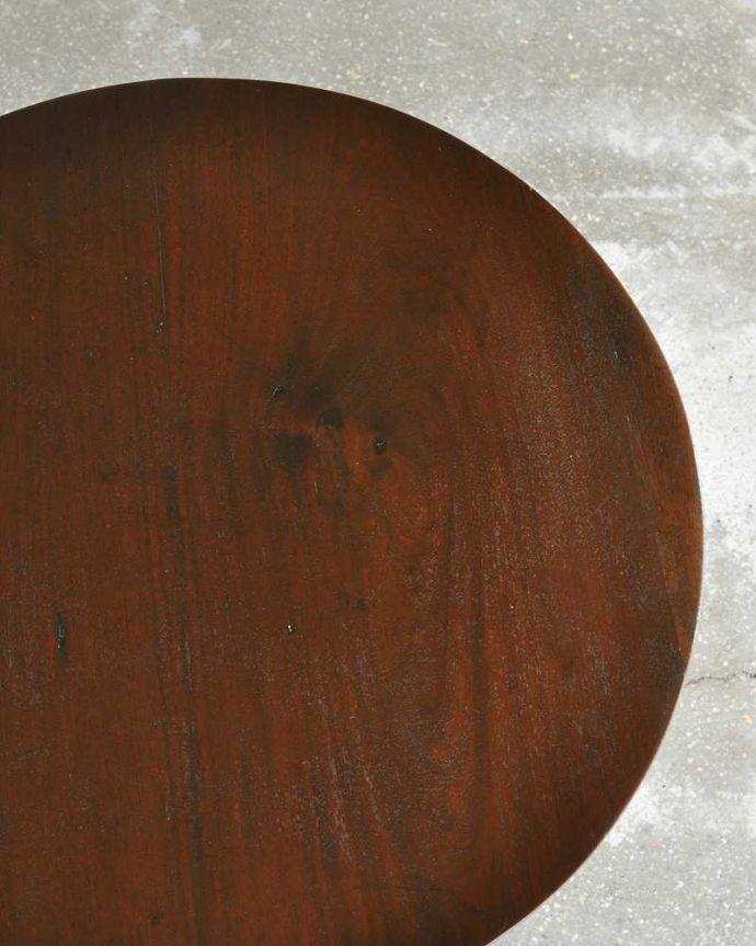 q-1106-f  アンティークティーテーブル(丸型)の天板ズーム